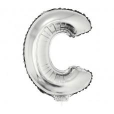 Palloncino lettera C piccola argento
