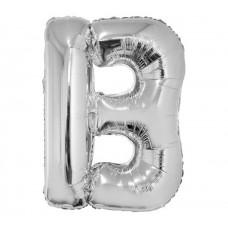 Palloncino lettera B grande argento