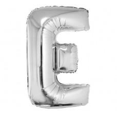 Palloncino lettera E grande argento