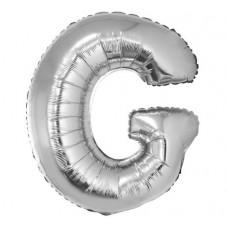 Palloncino lettera G grande argento