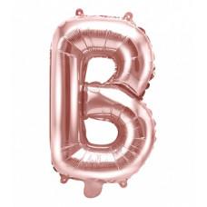 Palloncino lettera B piccola rosa oro