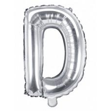 Palloncino lettera D piccola argento