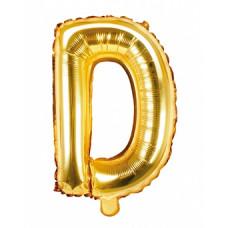 Palloncino lettera D piccola oro