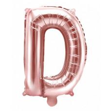 Palloncino lettera D piccola rosa oro