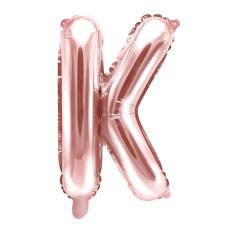Palloncino lettera K piccola rosa oro