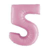 Palloncino numero 5 medio rosa