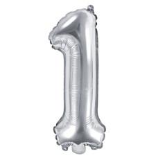 Palloncino numero 1 piccolo argento