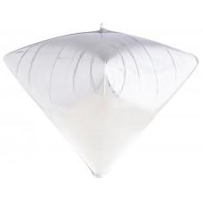 Palloncino diamante 3D argento