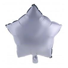 Palloncino forma a stella piccola argento opaco