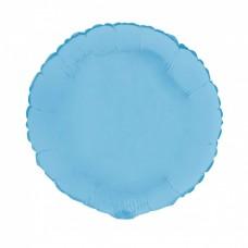 Palloncino forma tonda piccola azzurro opaco